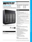 Spec Sheet for Master-Bilt BEM _ BEL-SC Series Merchandisers