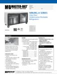 Spec Sheet for Master-Bilt MBURG-A Series Glass Door Undercounter Refrigerators