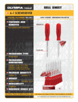 Spec Sheet for Olympia Tools 76-491 iWork 6-in-1 Screwdriver