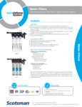 Spec Sheet for Scotsman AquaDefense System Water Filters