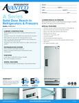 Specsheet for Avantco A12FHC Solid Door Reach-In Freezer