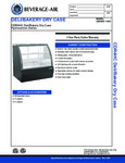 Specsheet for Beverage-Air CDR4HC-1-B-D Bakery Display Case