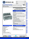 Specsheet for Beverage-Air DPD67HC-2 Pizza Prep Table