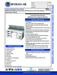 Specsheet for Beverage-Air DPD72HC-3 Pizza Prep Table