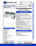 Specsheet for Beverage-Air DPD93HC-4 Pizza Prep Table