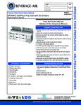 Specsheet for Beverage-Air DPD93HC-6 Pizza Prep Table