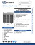Specsheet for Beverage-Air HFP3-5G Horizon Series Glass Door Reach-In Freezer with LED Lighting