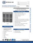 Specsheet for Beverage-Air HFP3-5HG 3 Section Glass Half Door Reach-In Freezer