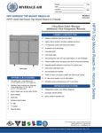 Specsheet for Beverage-Air HFP3-5HS Horizon Series Solid Half Door Reach-In Freezer