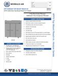 Specsheet for Beverage-Air HFP3-5S Horizon Series Solid Door Reach-In Freezer