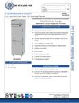 Specsheet for Beverage-Air PH1-1HS-PT Half Door Pass-Thru Holding Cabinet