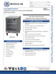 Specsheet for Beverage-Air UCR24AHC-25 Undercounter Refrigerator