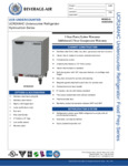 Specsheet for Beverage-Air UCR24AHC Undercounter Refrigerator