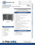 Specsheet for Beverage-Air UCR48AHC-25 Undercounter Refrigerator