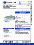 Specsheet for Beverage-Air WTFCS60HC 2 Drawer Freezer Chef Base