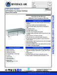 Specsheet for Beverage-Air WTFCS84HC 4 Drawer Freezer Chef Base