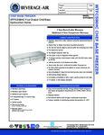 Specsheet for Beverage-Air WTFCS96HC 4 Drawer Freezer Chef Base
