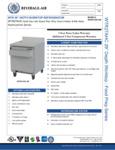 Specsheet for Beverage-Air WTR27AHC-SR Worktop Referigerator