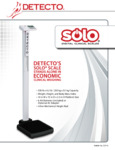 Specsheet for Cardinal Detecto Solo Digital Scales
