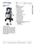 Specsheet for Centerline by Hobart HMM20-1STD 20 Qt. Commercial Mixer