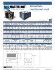 Specsheet for Master-Bilt MSLD020EB Condensing Unit