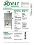 Specsheet for Noble 495HT180EC1 495HT180EC3 Warewashing