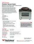 Specsheet for PolyScience 300 Series Chamber Vacuum Sealer