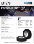 Specsheet for Shurtape 200782 Electrical Tape