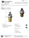 Specsheet for T&S Brass 006477-40NS Eterna Spindle Assembly