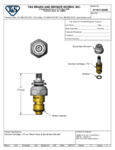 Specsheet for T&S Brass 011617-25NS Cold LTC Cerama Cartridge with Check Valve and Escutcheon Bonnet