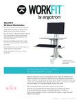 Specsheet for WorkFit by Ergontron 33351200 33350200 Standing Desktop Desk with Single Monitor Arm