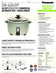 Rice Cooker Spec