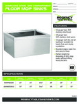 Stainless Steel One Compartment Floor Mop Sinks Specsheet