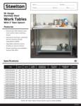 Steelton 18 Gauge 430 Stainless Steel Work Table with 2 Rear Upturn Specsheet