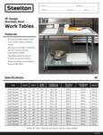 Steelton 18 Gauge 430 Stainless Steel Work Table with Undershelf Specsheet