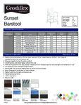 Grosfillex Sunset Barstools