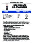 Lucas Oil High Mile Oil Stabilizer Specs