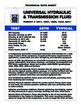 Lucas Oil Universal Hydraulic Fluid Specs