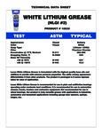 Lucas Oil White Lithium Grease Specs