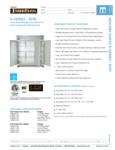 Traulsen G Series 3 Section Refrigerator Spec Sheet