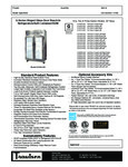 Traulsen G Series R290 Glass Door Refrigerator Spec Sheet