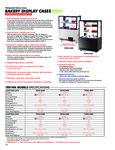 Turbo Air Bakery Case Spec Sheet