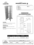 Universal Rack Spec Sheet