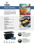 Vigor Food Pans Specsheet