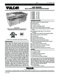 Vulcan F45434 ARS Series Self Contained Refrigerated Bases Specsheet