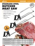 Weston Hand Meat Saws Spec Sheet