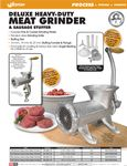Weston Deluxe Manual Meat Grinder Spec Sheet
