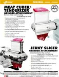 Meat Tenderizer Attachment Spec Sheet