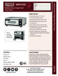 Waring WPO100 Single Pizza Oven