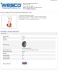 Wesco 934210382 Hand Truck Specsheet